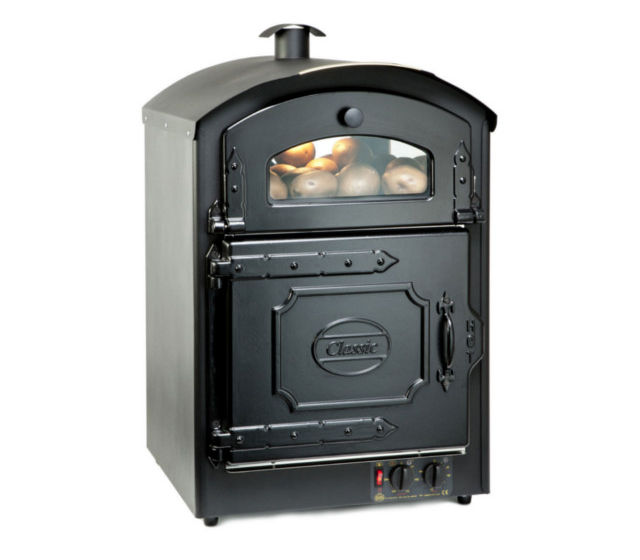 Front of Classic 50 Potato Oven in black