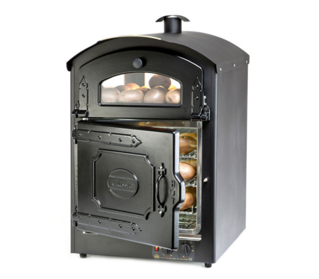 Front of Classic 50 Potato Oven with door open