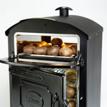 Front of Classic 50 Potato Oven with both heated display and oven doors open