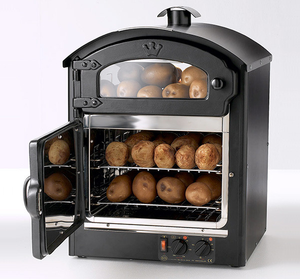 View of Classic 25 Potato Oven with door open
