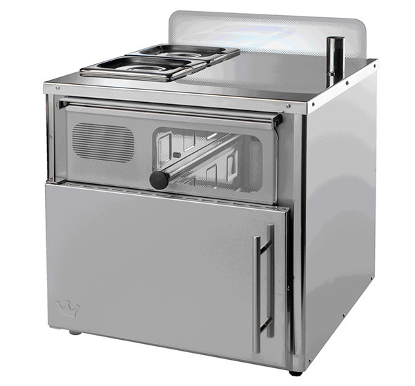 Vista Compact oven in stainless steel
